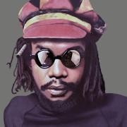 Ilustração sobre foto conhecida do cantor e compositor jamaicano | foto: reprodução internet