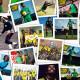 Em fotomontagem, imagens de Bob Marley praticando seu esporte predileto e da campanha das 'Reggae Girlz' para tentarem ir à Copa do Mundo da FIFA, em 2015.