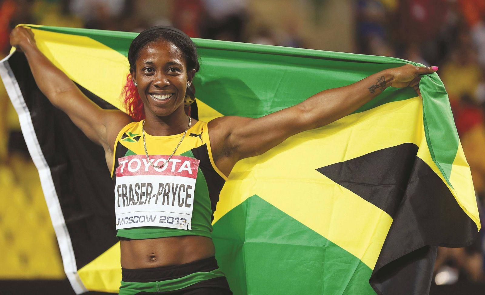 Shelly-Ann Fraser, estrela feminina do supertime de atletas velocistas da Jamaica