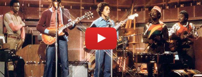 Bob Marley & The Wailers, em registro de 1973 para o tradicional programa de TV da BBC, em Londres. | foto: reprodução internet