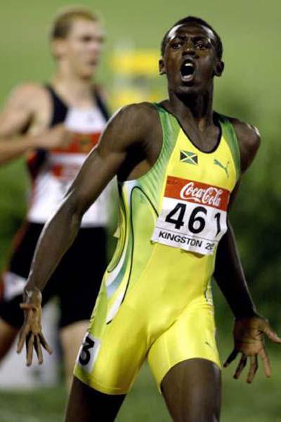 Usain Bolt no início de carreira  |  foto: reprodução internet
