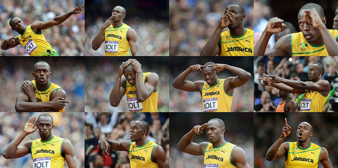 As várias faces de Usain Bolt  |  foto: divulgação