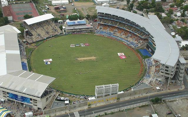 Vista aérea do Sabina Park Cricket Stadium  |  foto: divulgação