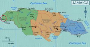 Negril fica no lado oeste da Jamaica | foto: reprodução internet