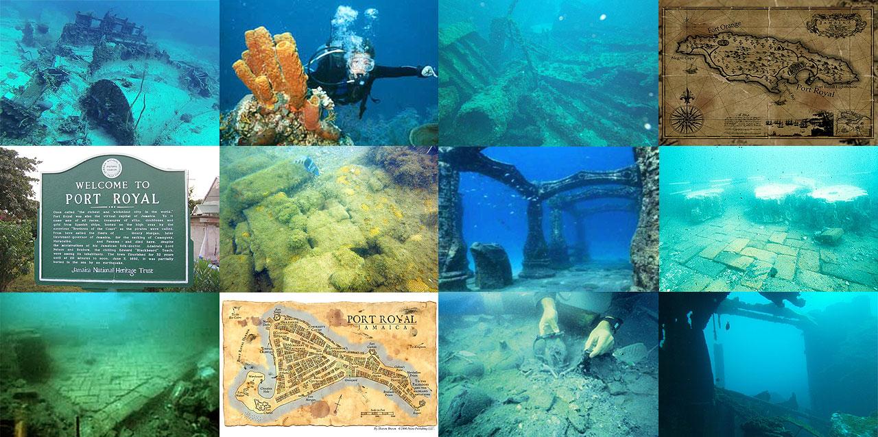 A cidade perdida de Port Royal é uma das 10 maravilhas submersas do mundo  |  foto: reprodução internet