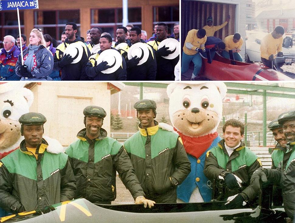 A equipe de Bobsled da Jamaica de 1988 foi um exemplo de determinação, perseverança e espírito esportivo.  |  fotos: reprodução internet