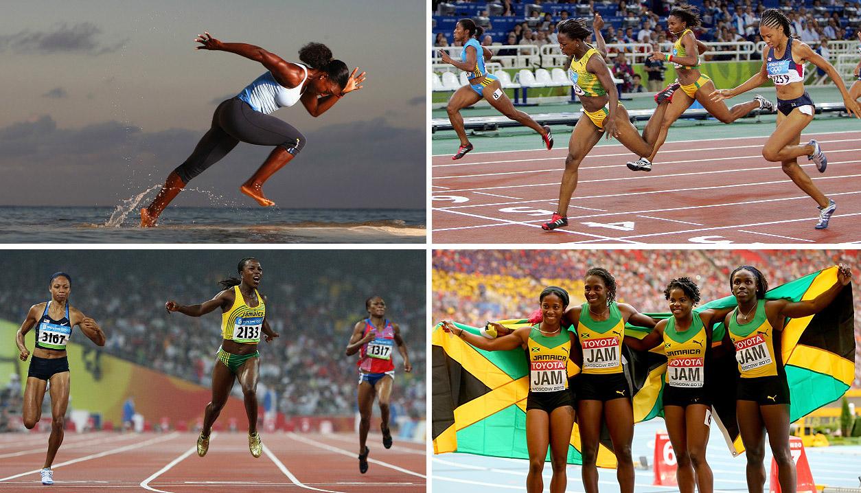 Entre outros fatores, as conquistas das atletas jamaicanas são fruto de treinamento intenso e obstinação. | fotos: reprodução internet