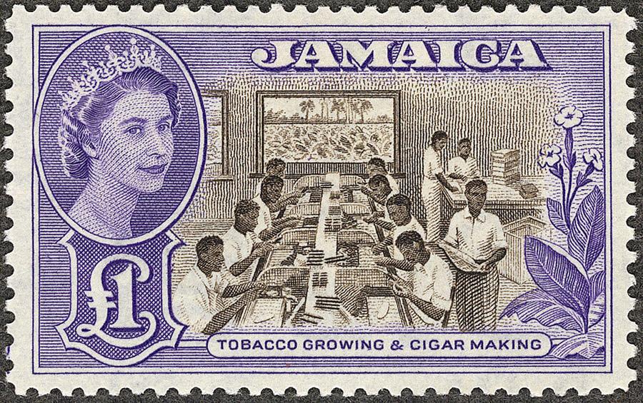 Selo britânico em homenagem à Jamaica. Foto: reprodução internet