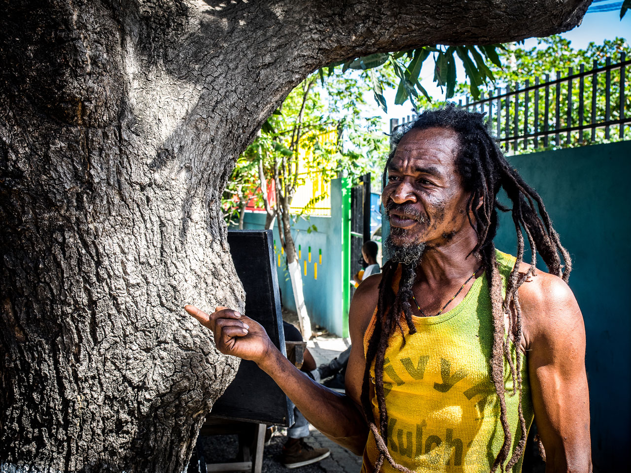 Stone Man, um típico rastafári em Kingston. | foto: Kadu Pinheiro | Jamaica Experience