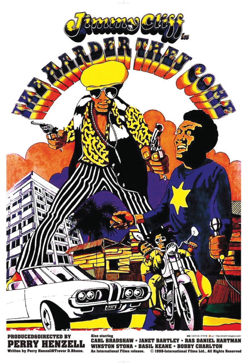 "Capa do filme ""The Harder They Come"", estrelado por Jimmy Cliff. Foto: reprodução internet"