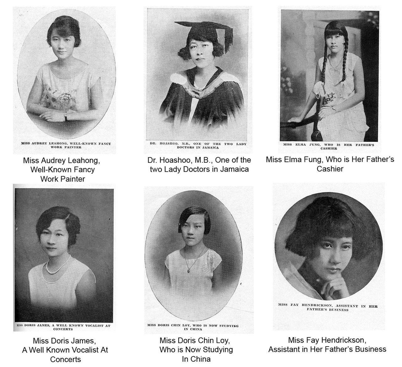 Algumas mulheres jamaicanas de origem chinesa nos anos 30  |  foto: reprodução internet