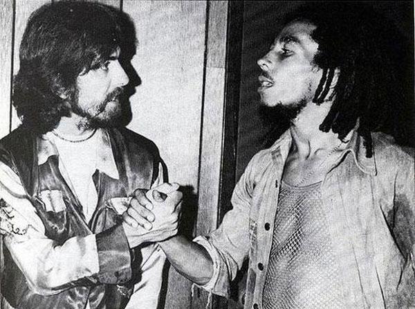 George Harrison e Bob Marley, respeito mútuo.  |  foto: reprodução internet