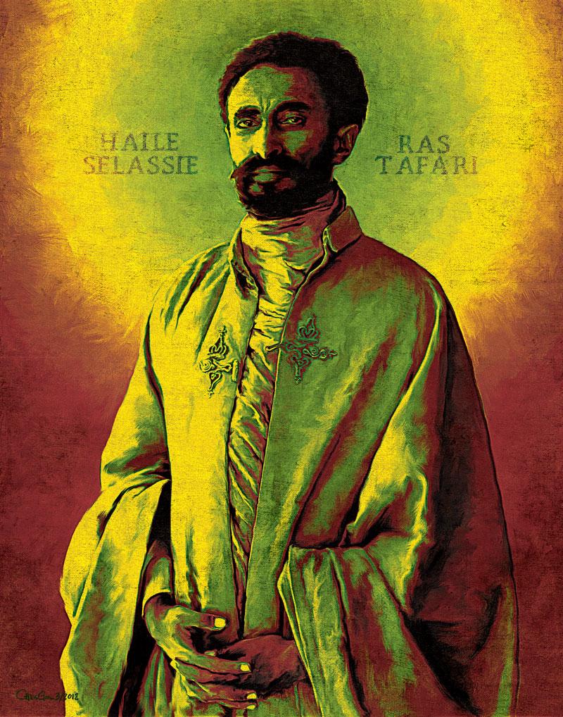 Para os rastafáris, Haile Selassie é a manifestação humana de Deus.  |  foto: reprodução internet