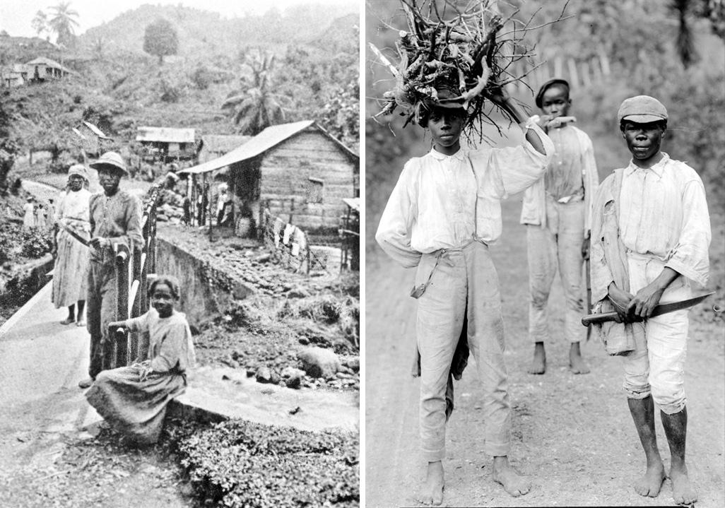 Comunidade de Maroons nas montanhas jamaicanas, no início do século XX. | fotos: reprodução internet