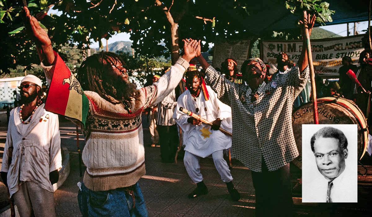 Leonard P. Howell (à direita) é conhecido como o primeiro rasta. Ele foi o líder da comunidade rastafári que deu origem às atuais.  |  fotos: reprodução internet