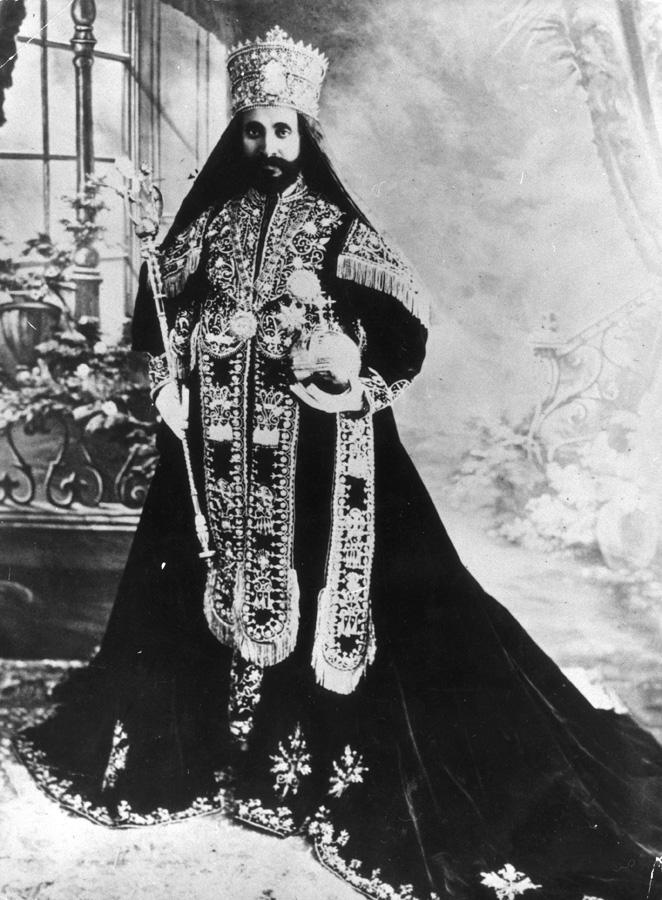 O imperador da Etiópia Haile Selassie I  |  foto: reprodução internet