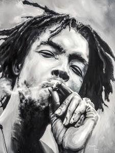 Foto: Kadu PinheiroQuadro pintado à mão por artista jamaicano com o lendário Peter Tosh.  |  foto: Kadu Pinheiro