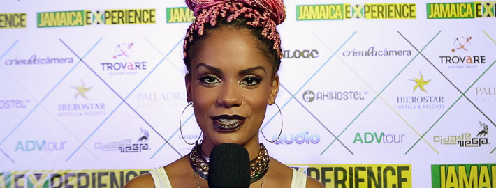 A apresentadora e embaixadora do Jamaica Experience, Magá Moura, na festa de lançamento do projeto.
