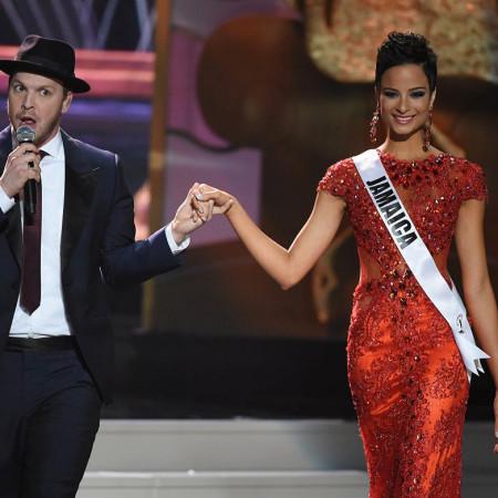 A Miss Jamaica Kaci Fennell e o cantor Gavin DeGraw | foto: reprodução internet