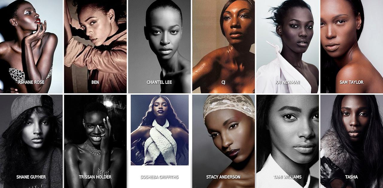 Algumas das modelos caribenhas do casting da agência jamaicana Saint International, sediada em Kingston.  |  foto: divulgação Saint International
