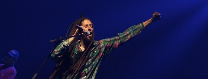 Julian Marley no palco do Espaço das Américas | foto: Fabiano Oliveira
