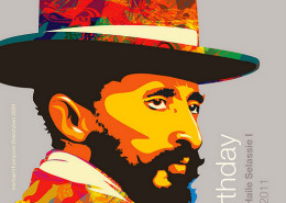 Haile Selassie I Earthday | arte: Michael 'Freestylee' Thompson