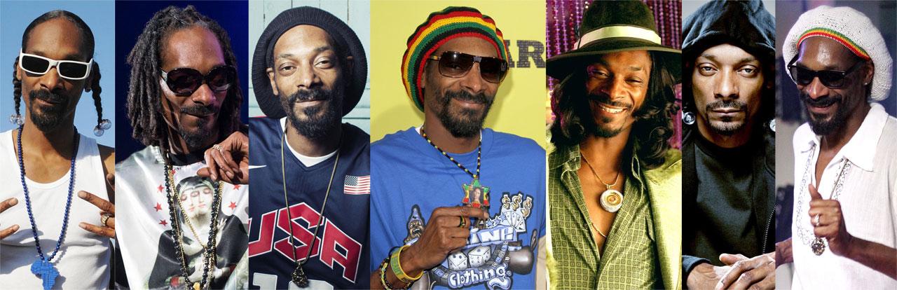 Snoop Doggy Dogg, Snoop Dogg , Snoop Lion, Snoopzilla: as várias faces do camaleão Calvin Cordozar Broadus Jr.  |  fotos: reprodução internet