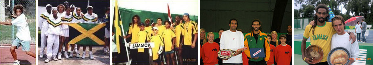 Momentos da carreira de Dustin Brown, quando ele ainda competia pela Jamaica.  |  fotos: reprodução internet