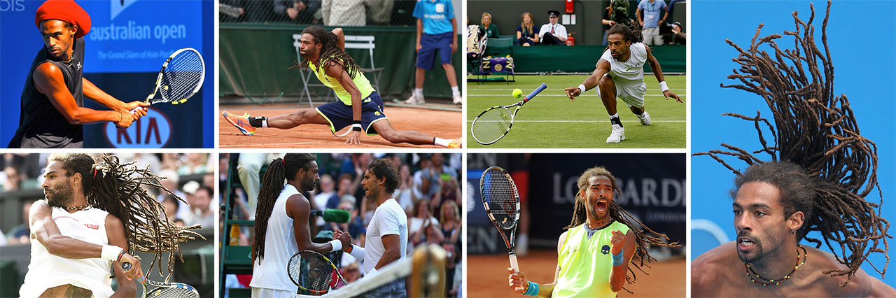 Espírito jamaicano: determinação e superação fazem parte da vida do tenista Dustin Brown. | fotos: reprodução internet