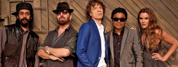 SuperHeavy: Damian Marley, Dave Stewart, Mick Jagger, A. R. Rahman e Joss Stone. | foto: divulgação