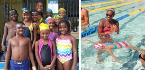 A nadadora jamaicana é inspiração para muitas crianças que estão começando a nadar.  |  fotos: reprodução internet