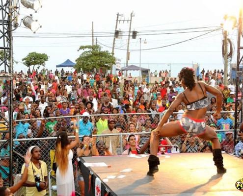 O público prestigia e delira com as dançarinas | foto: divulgação IDHQ