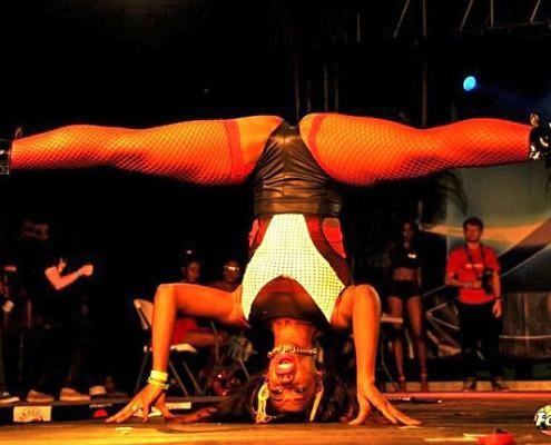 Apresentação de dançarina no International Dancehall Queen Contest | foto: divulgação IDHQ